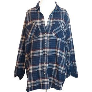 Urban Outfitters BDG Oversized Blue Flannel